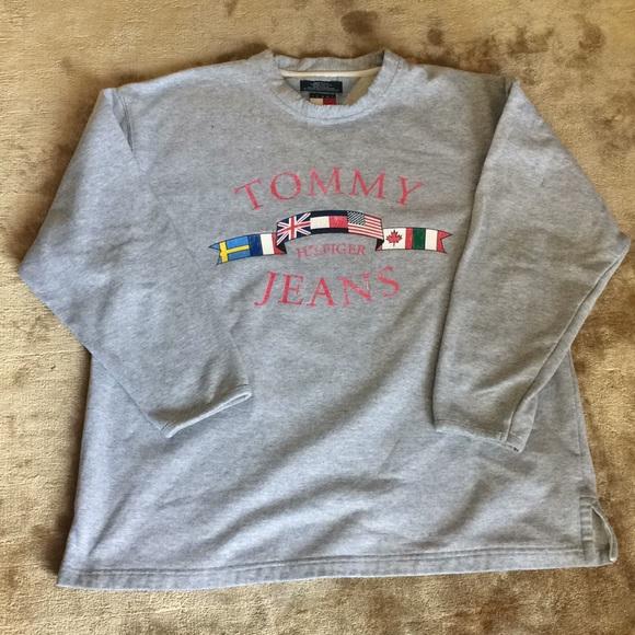 9e1135b43 Tommy Hilfiger Sweaters | Vintage Tommy Jeans Sweatshirt | Poshmark